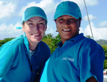 Samana Whale Watching with Kim Beddall - Data Collector: Maria Sarhani and Guest Photographer: Eva Reznickova in Samana DR.