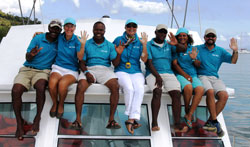 Kim Beddall of Whale Samana and Team of Pura Mia Whale Watching 55 foot boat.